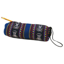 Manta Pencil Bag Cylinder Lined Zippered Peru Artisans