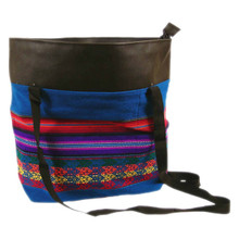 Manta Shoulder Tote with Handles Andes Peru Artisan