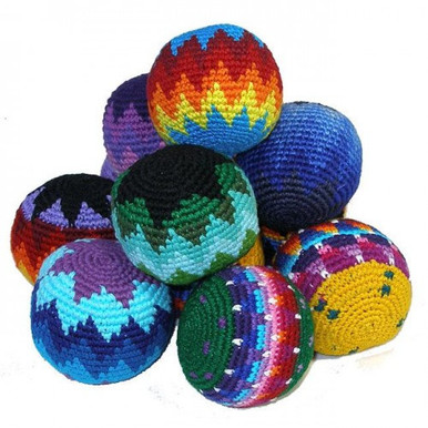 Assorted Colors Fun Footbags from Guatemala.