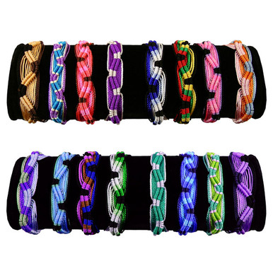 Friendship Bracelets - Acrylic Ten Pack Bag Assortment