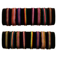 Friendship Bracelets - Cotton 10 Ten Pack Assortment Hand Woven