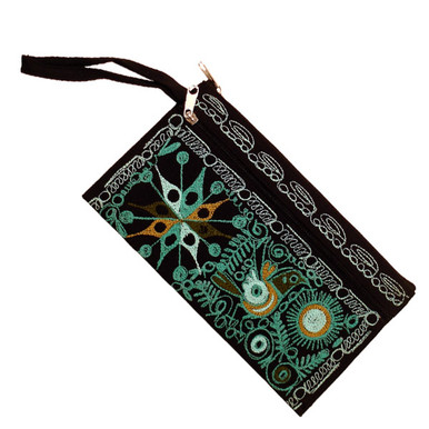 Embroidered Money Pouch and Make Up Purse