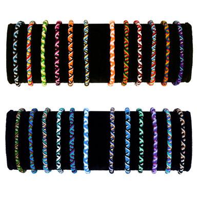 Friendship Bracelets - Tube Bag of 10 Assorted Wholesale