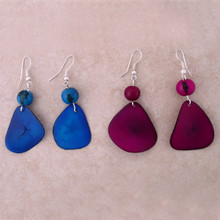 Amazon Tagua Chip Earrings - Small