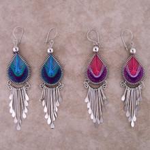 Woven Thread Drop Earrings w/ drops