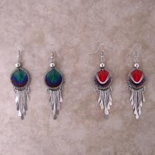 Woven Thread Round Earrings w/ drops