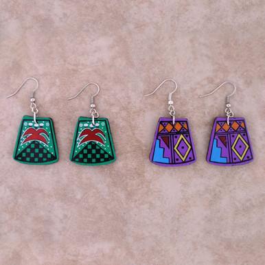 Clay Medallion Earrings
