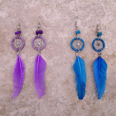 Feather Dreamcatcher Earrings