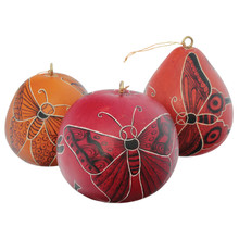 "Colorful Ornaments with Butterflies 3"" Assortment"