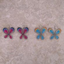 Woven Thread Butterfly Earrings