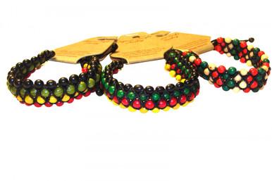 Acai Bracelets Triple Stranded Amazon Multicolor Seeds