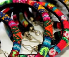 Assortment Manta Fabric Friendship Bracelets