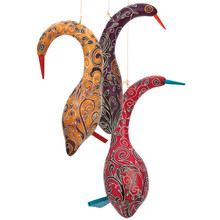 "Gourd Standing Bird 7"" Fine Detail Colors Assorted"