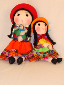 Peruvian Traditional Dressed Doll 9""