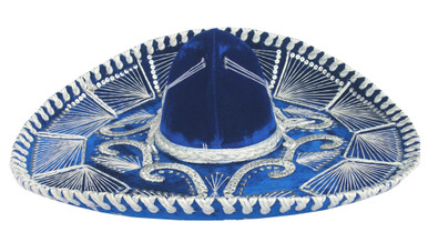 "Gorgeous Classic Mexican Sombrero 22"" Hand Made"