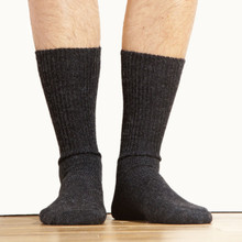 Warm Alpaca Fiber Socks Black