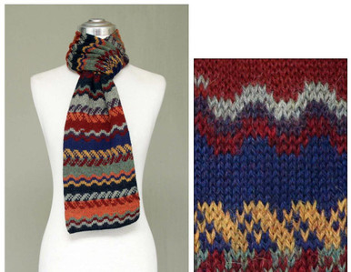"Super Fine Unisex Scarf in 100% Alpaca Knit 8"" x 68"""
