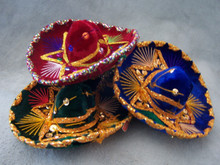"Mini Charro Hat Assortment 4"" Velvet Party Decor"