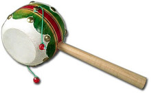Wooden Spin Drum Mexico Toy 3.5""