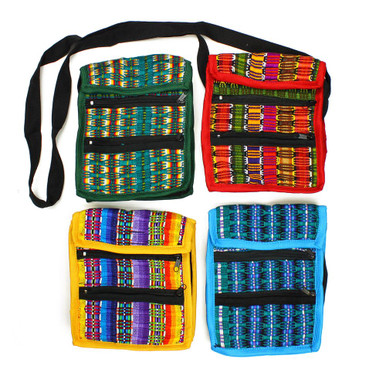 Three Zipper Purse Small Clutch Hand Woven Bag