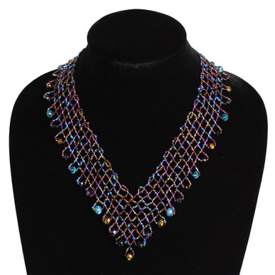 Interwoven Beads Lola Necklace Desert Sunset Magnetic Clasp