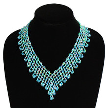 Interwoven Beads Lola Necklace Turquoise and Crystal Beads Magnetic Clasp