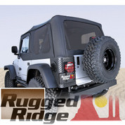 Rugged Ridge 13724.37 XHD Replacement Spice Soft Top With Tinted Windows & Door Skins 97-06 Wrangler