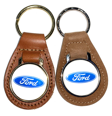 PAIR OF FORD BLUE OVAL LOGO KEY CHAINS