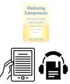 Print, ebook, audio bundle, Meditating Entrepreneurs, TM Donation $50
