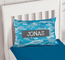 Blue Camouflage Pillowcase Cover