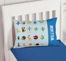 Sweet Animal Chart - Blue Pillowcase Cover