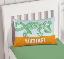 Climbing Gecko Pillowcase Cover