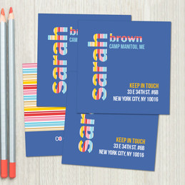 Fun Stripes Girl Calling Cards
