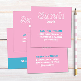 Modern Pink Calling Cards
