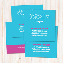 Modern Sky Blue Calling Cards