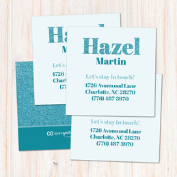 Glitter Blue Name Calling Cards