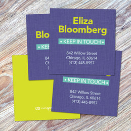 Linen Purple Style Calling Cards