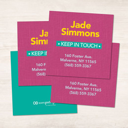 Linen Fuschia Camp Calling Cards