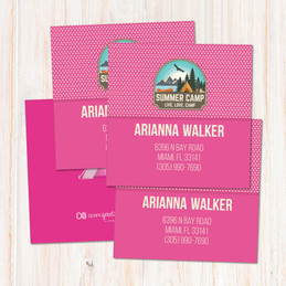 Live, Love, Camp Pink Calling Cards