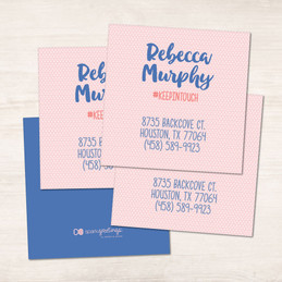 Cute Minimalist Name Calling Cards