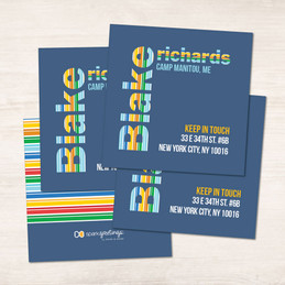 Fun Stripes Boy Calling Cards