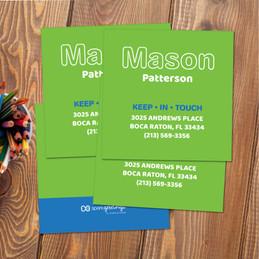 Modern Green Calling Cards