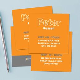 Modern Orange Calling Cards