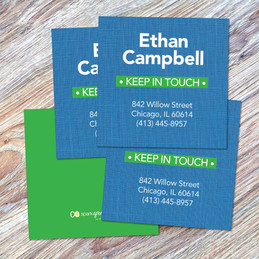 Linen Blue Style Calling Cards