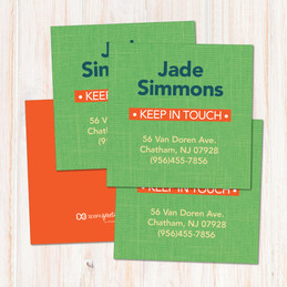 Linen Green Style Calling Cards