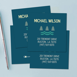 Summer Forest Blue Calling Cards