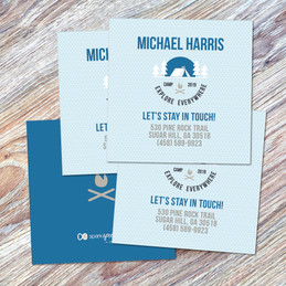 Explore Everywhere Blue Calling Cards