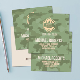 Camouflage Camp Green Calling Cards