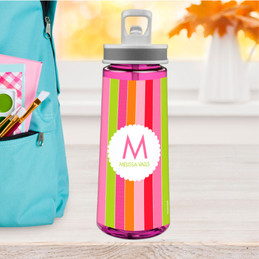 Bold & Fun Stripes Sports Water Bottle