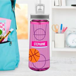 Girl Basketball Fan Sports Water Bottle